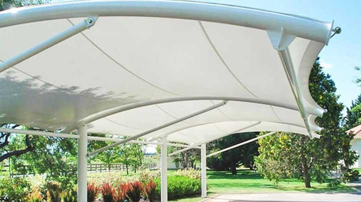 Desain Kanopi Tenda Membrane