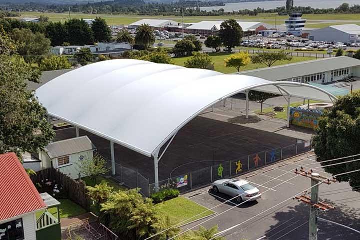 Tenda Membrane Untuk Lapangan Tenis